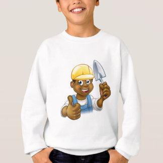 Black Builder Bricklayer Worker With Trowel Tool Sweatshirt