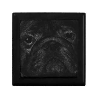 Black bulldog jewelry boxes