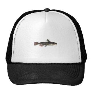 Black Bullhead Catfish Art Trucker Hats