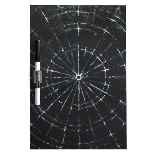 Black Bull's Eye (black minimalism) Dry-Erase Board