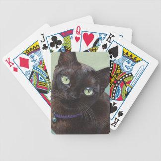 Black Burmese Cat Moose Bicycle Playing Cards