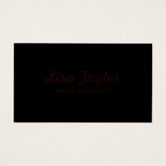 Black Business Card with Red Lettering