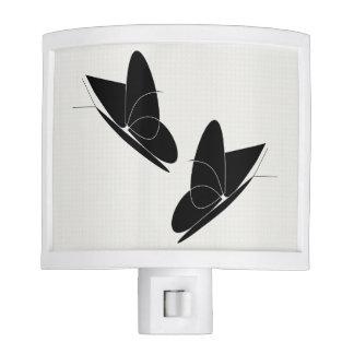 Black Butterflies Nightlight Nite Lite