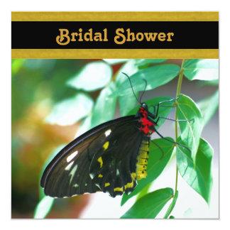Black Butterfly Nature Bridal Shower Invitation