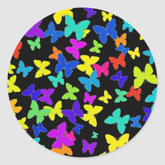 Black Butterfly Stickers