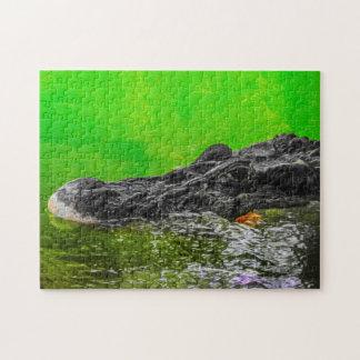 Black caiman 01 Digital Art - Photo Puzzle