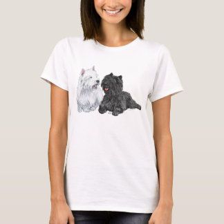 Black Cairn and West Highland Terriers T-Shirt