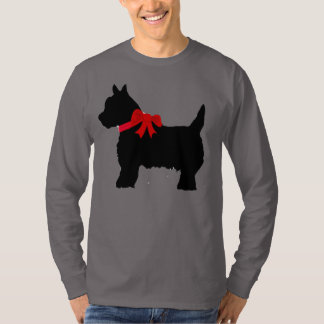 Black Cairn Scottish Terrier long sleeve tee