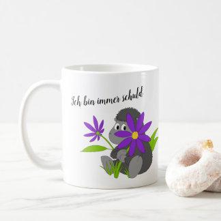 black cake sheep coffee mug