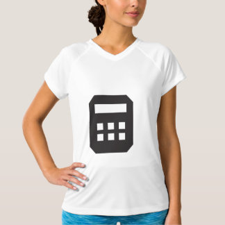 Black Calculator Womens Active Tee