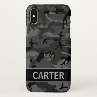 Black Camo Custom iPhone X Case