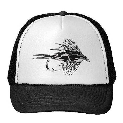 Black Camo Fly Fishing lure Mesh Hats