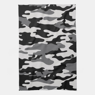 Black Camouflage Kitchen Towel