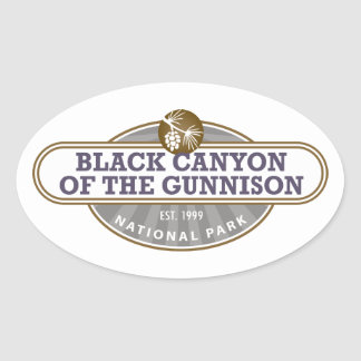 Black Canyon Gunnison National Park Oval Sticker