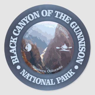 Black Canyon of the Gunnison NP (C) Classic Round Sticker