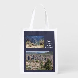 Black Canyon of the Gunnison Template Tote Reusable Grocery Bags