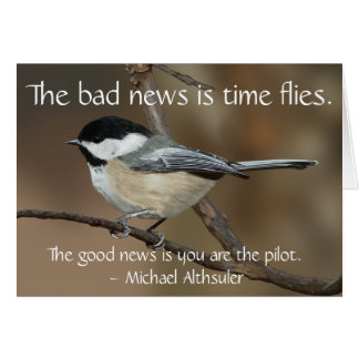 Black Capped Chickadee Card