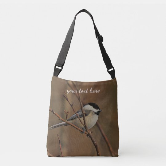 Black-capped chickadee crossbody bag