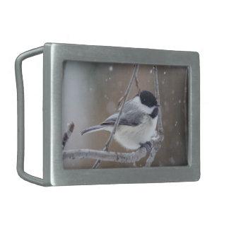 Black-capped Chickadee - Songbird Belt Buckle
