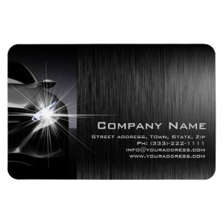 Black Car Automotive Company Metal Magnet