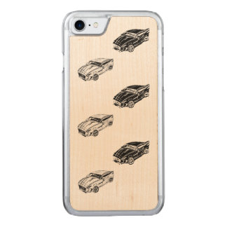 black car follows white car carved iPhone 8/7 case