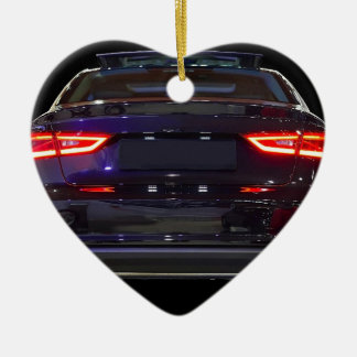 black car, red lights ceramic ornament