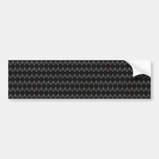 Black Carbon Fiber Alien Skin Bumper Sticker
