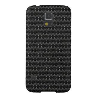 Black Carbon Fiber Alien Skin Case For Galaxy S5
