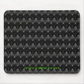 Black Carbon Fiber Alien Skin Mousepad