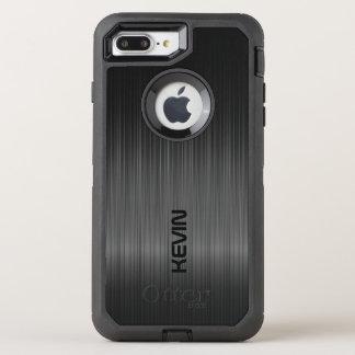 Black Carbon Fiber Texture Monogram OtterBox Defender iPhone 8 Plus/7 Plus Case