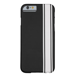 Black Carbon Fiber & White Stripe iPhone 6 case