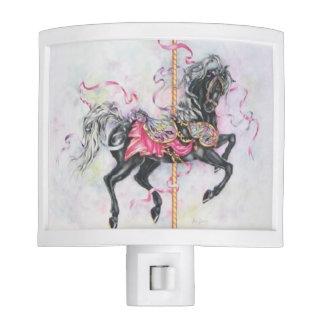 Black Carousel Horse Night Lite