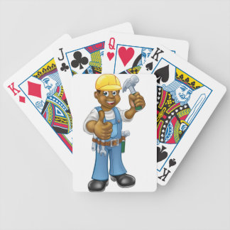 Black Carpenter Handyman Bicycle Playing Cards