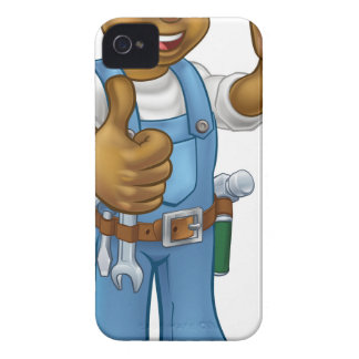Black Carpenter Handyman Case-Mate iPhone 4 Cases