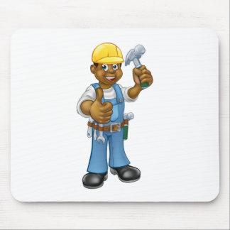 Black Carpenter Handyman Mouse Pad