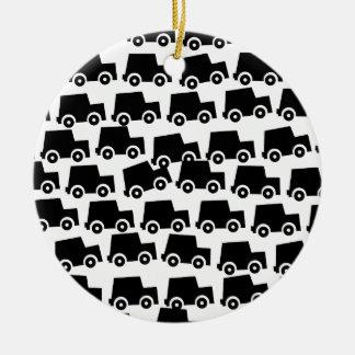 Black Cars Ceramic Ornament