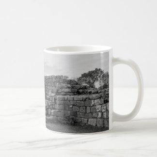 Black Carts Turret on Hadrian's Wall Basic White Mug