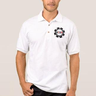 Black Casino Chip Polo Shirt