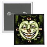 Black Cat 13 Clock Halloween 2 Inch Square Button