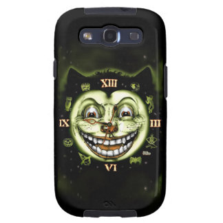 Black Cat 13 Clock Halloween Samsung Galaxy SIII Cases