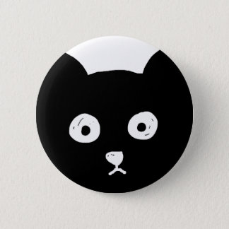 Black Cat 2 Inch Round Button