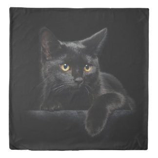Black Cat (2 sides) Queen Duvet Cover