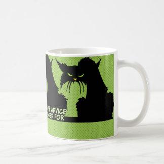 Black Cat Advice Saying Classic White Coffee Mug