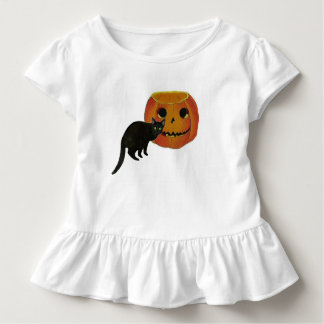 Black Cat And Jack o Lantern Toddler T-shirt