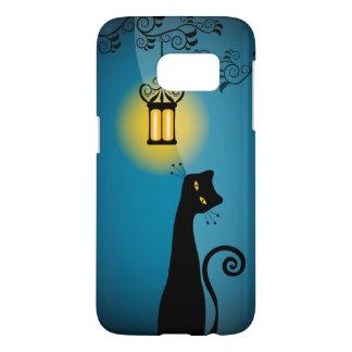 Black Cat and Lantern Samsung Galaxy S7 Case
