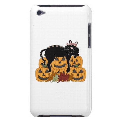 Black Cat and Pumpkins Fall Fun iPod Case-Mate Case