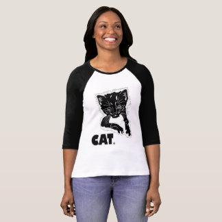 Black Cat Animal Print Garments Merchandises T-Shirt
