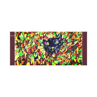 black cat art 2 canvas print