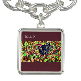 black cat art 2 charm bracelet