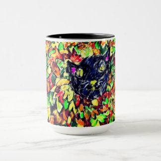 black cat art 2 mug